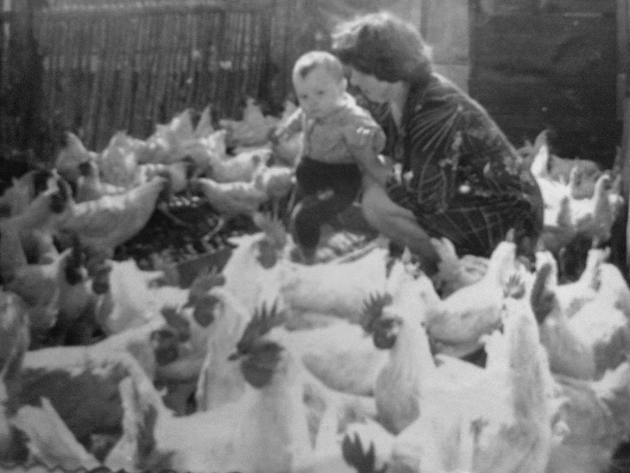 Валентина Терещенко (Лайтарук) в своем подворье. Посёлок Центральный. 1980 год.