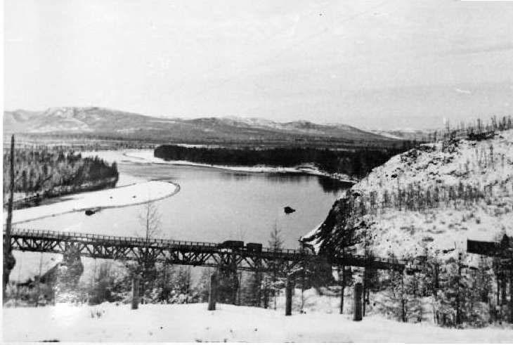 Старый мост через р. Кулу 70-е годы ХХ века