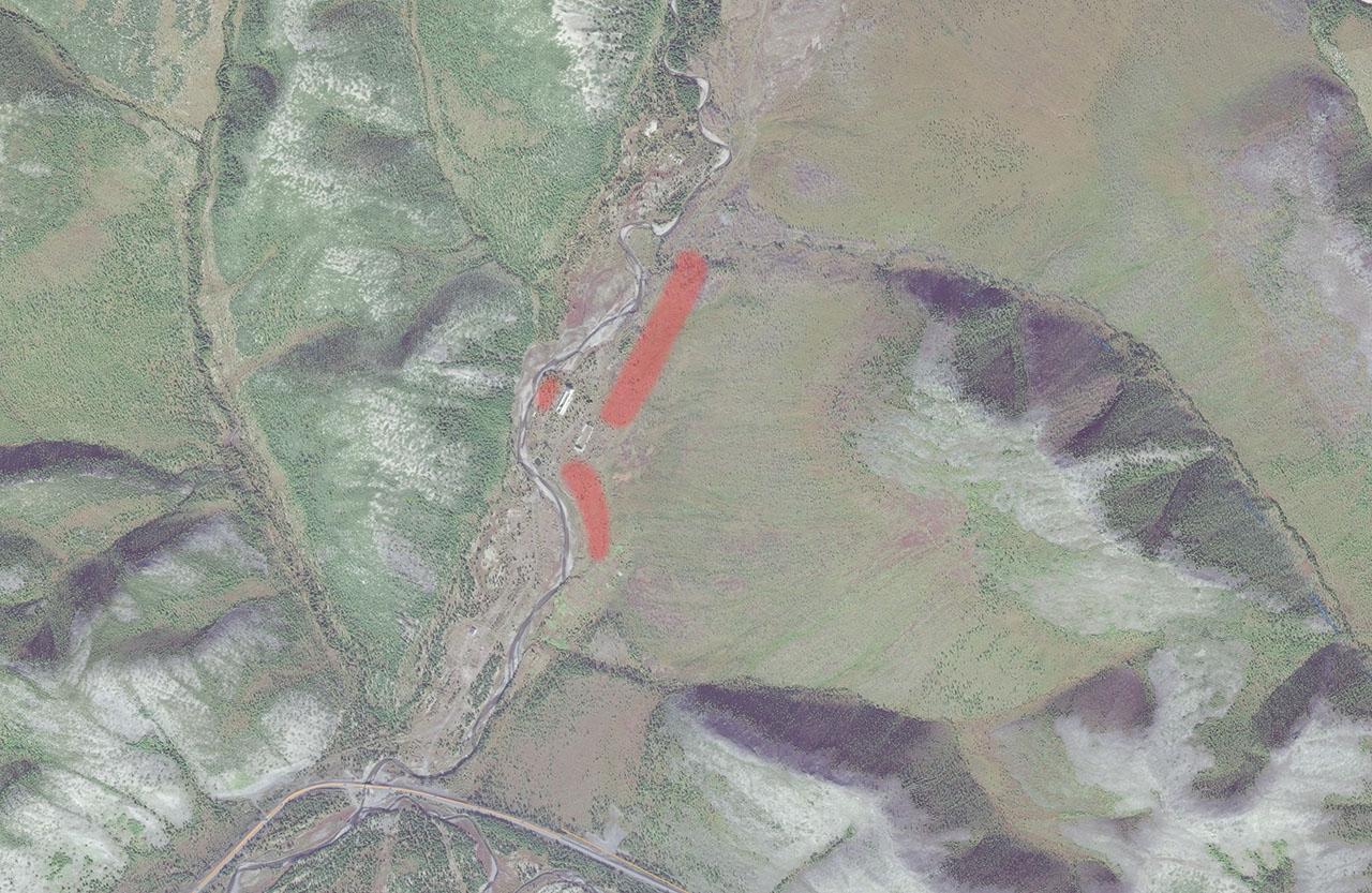Расположение поселка в 50-х годах ХХ-го века.