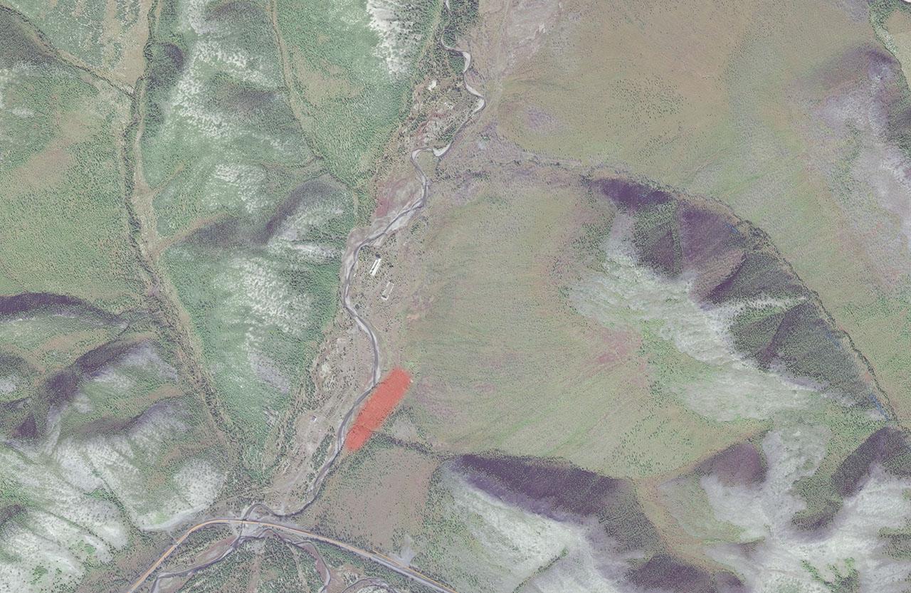 Расположение ОЛП «п/я № 14», позже на этом месте размещалась птицеферма.