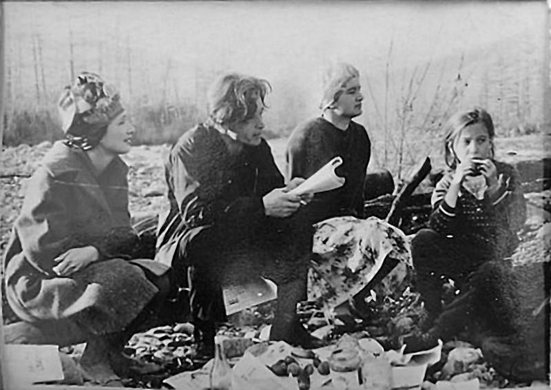 Участок Юбилейный прииска «40 лет Октября». Отдых на природе. 1967 год.