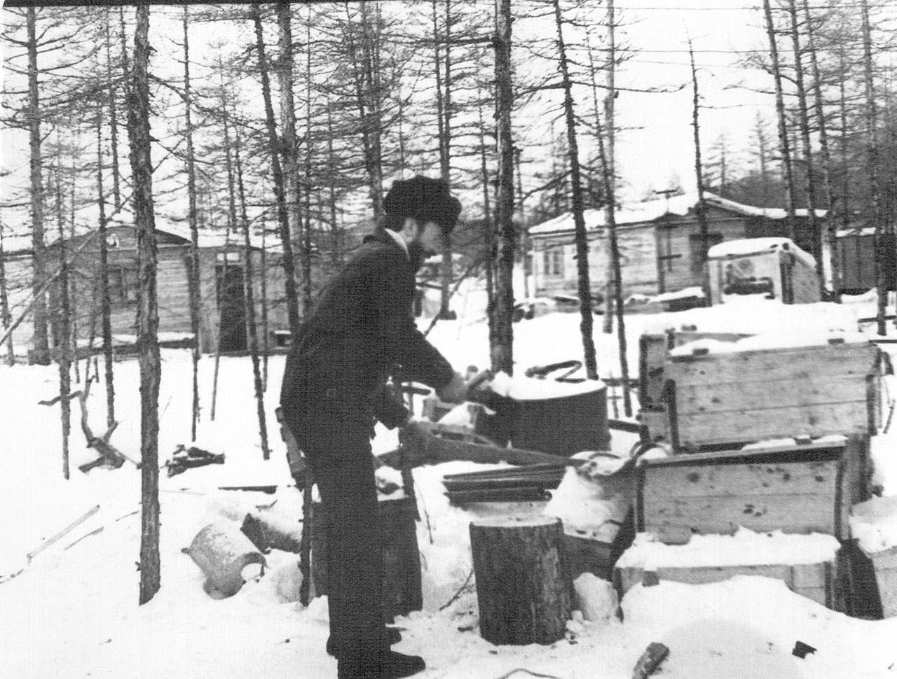Зима в посёлке Эльгенья.