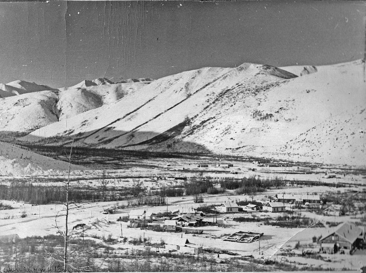 Посёлок Хениканджа. 1960 год. Из архива семьи Сафоновых.