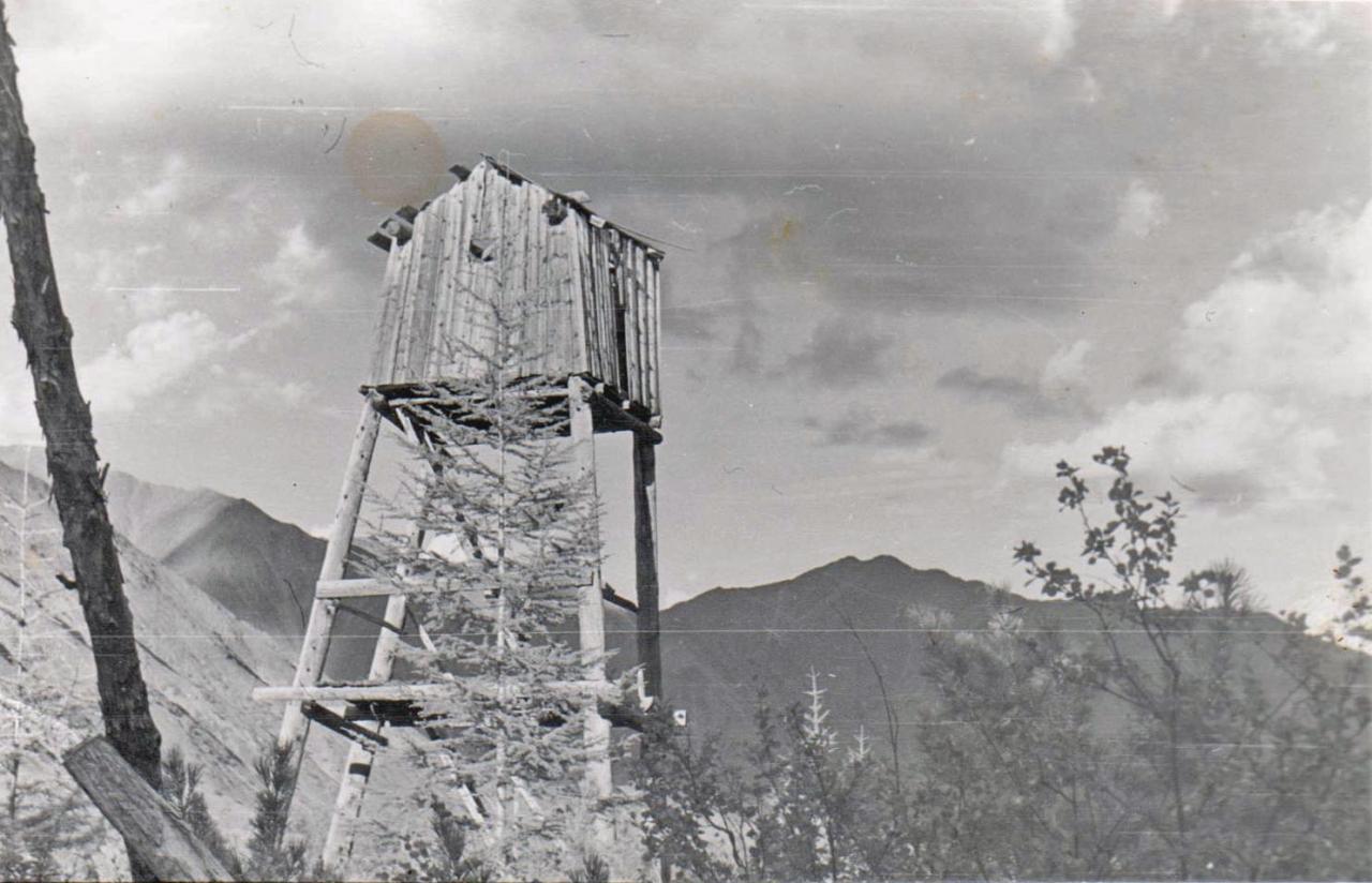 Вышка на руднике Светлый 1977 год.
