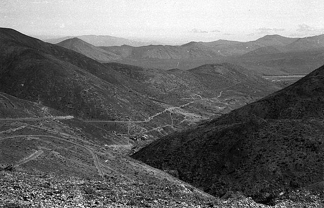 Вид на посёлок Рудный. 70-е года.