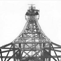 Телевышка, установленная в июне 1957-го года. Комсомольская площадь.