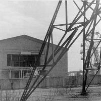 Здание магаданского телецентра, вступило в строй в ноябре 1965-го года. Комсомольская площадь.