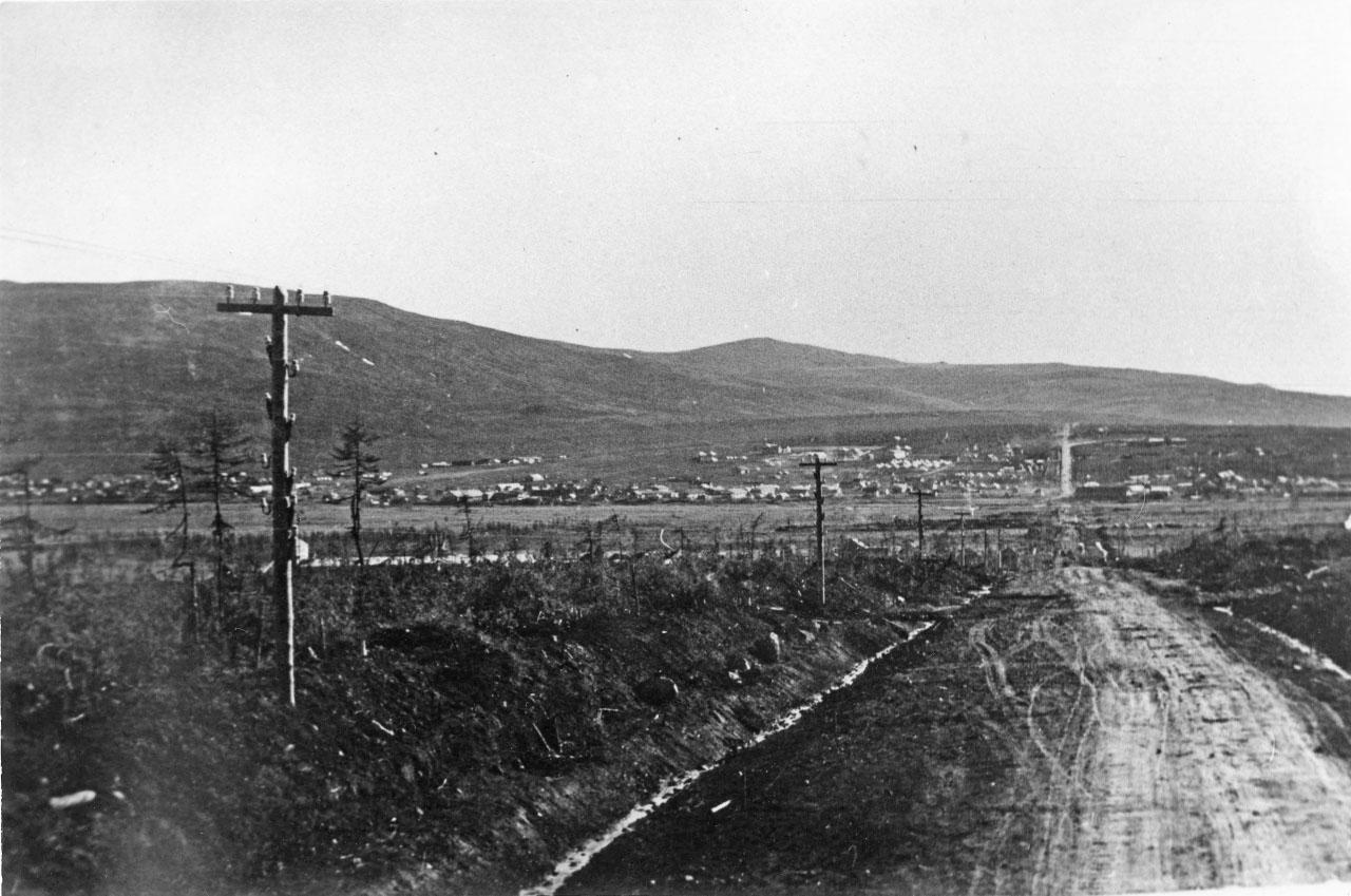 Колымского шоссе примерно с района 4-го километра. 30-е годы ХХ-го века.