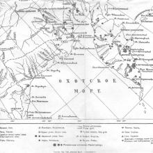 Карта. Н.В. Слюнин, 1900 г.