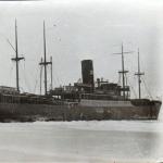 Пароход «Николай Ежов» в Охотском море. 1939 год