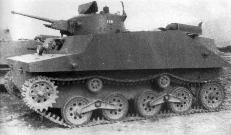 Захваченные на острове Шумшу японские плавающие танки Тип 2 «Ка-Ми».