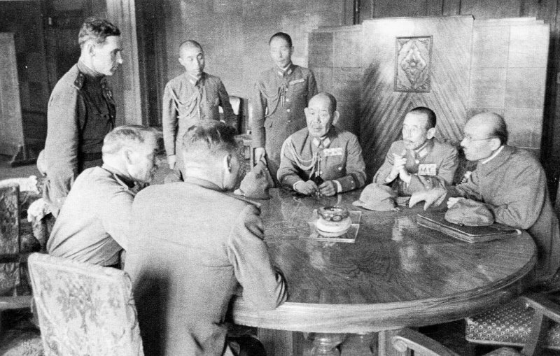 Переговоры о капитуляции японской Квантунской армии.