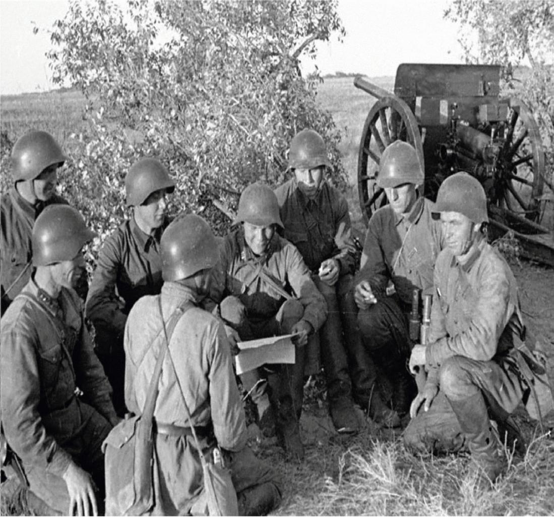 Артиллеристы в перерыве между боями. Район озера Хасан, 1938 год.