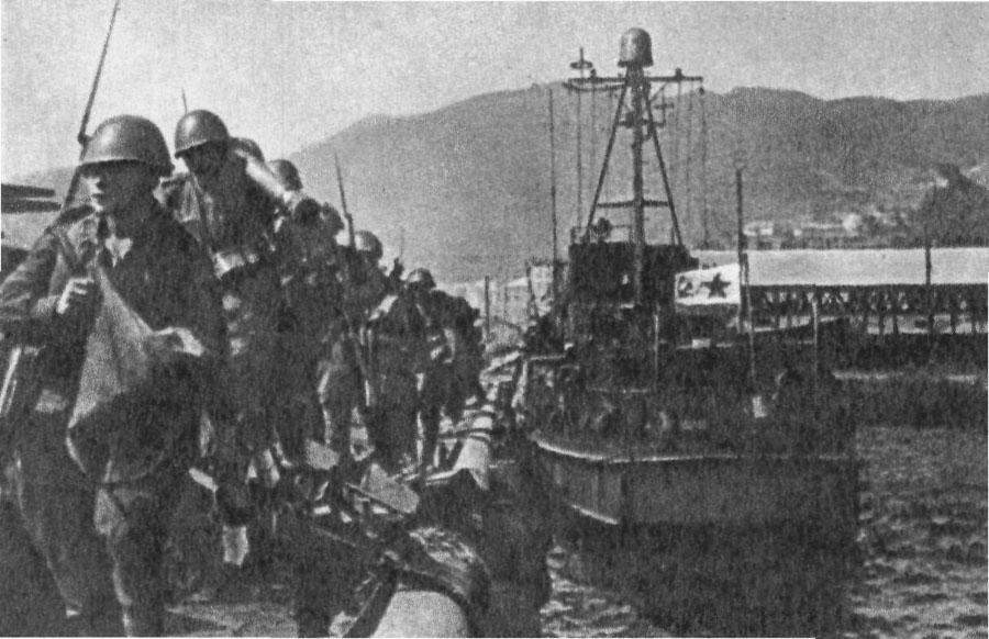 Высадка советского десанта в порту Сейсин (Корея)