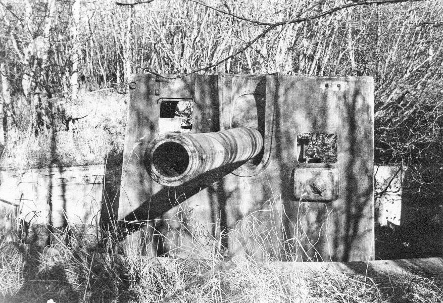 Батарея №960. Орудие морской артиллерии на мысе Островной в бухте Нагаева.