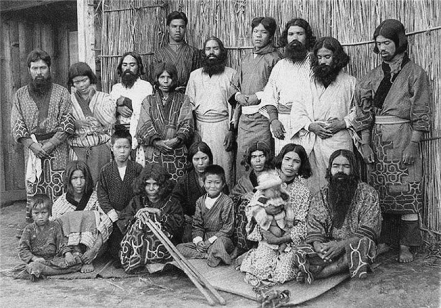 Айны. Жители Курильских островов.