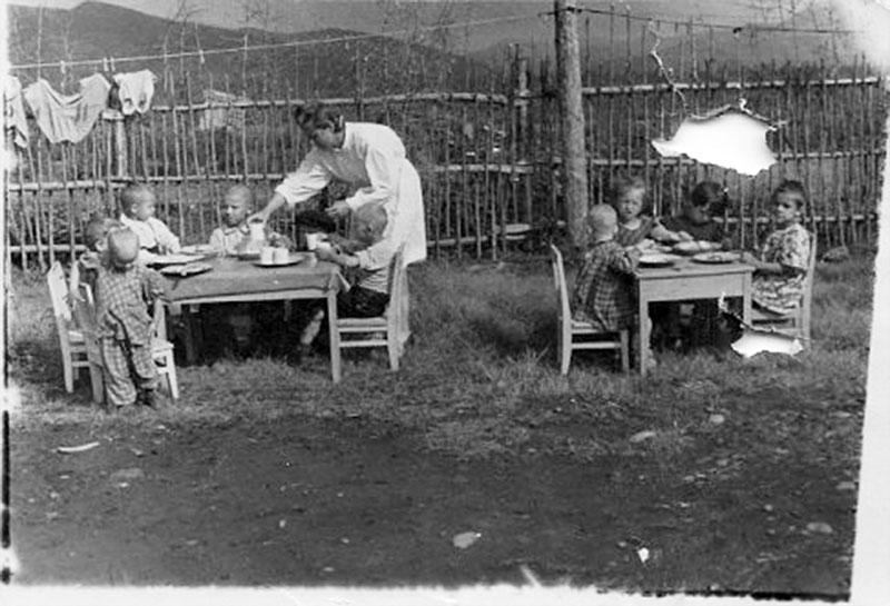 Детский сад в поселке Беличье. 1951 год.