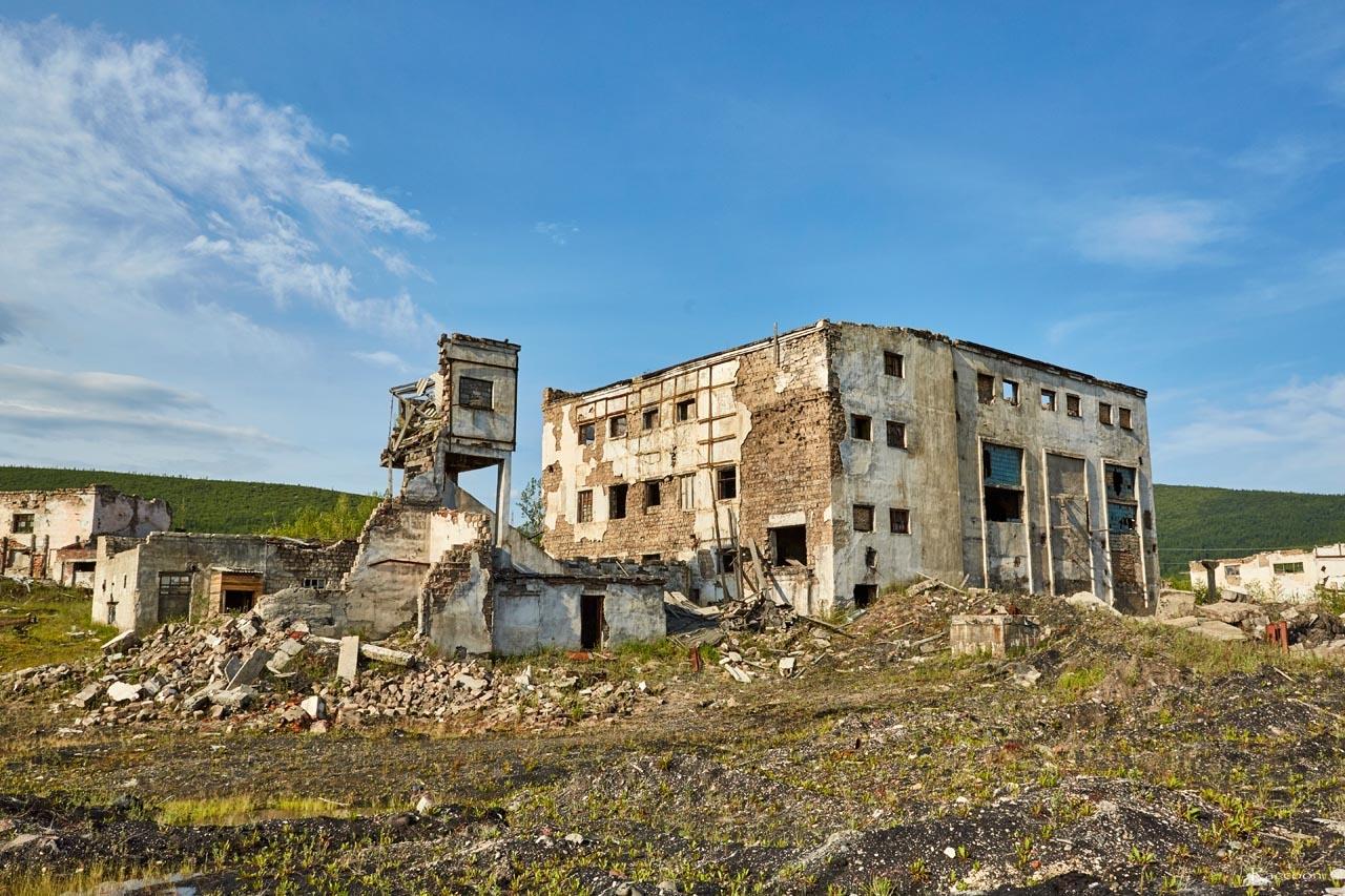 Завод САЗ. Посёлок Спорное. 2017 год.