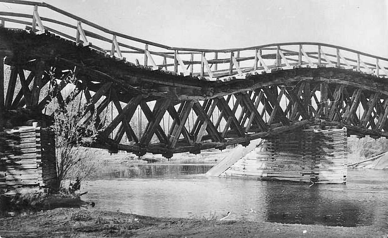 Мост через реку Судар. 1989 год.