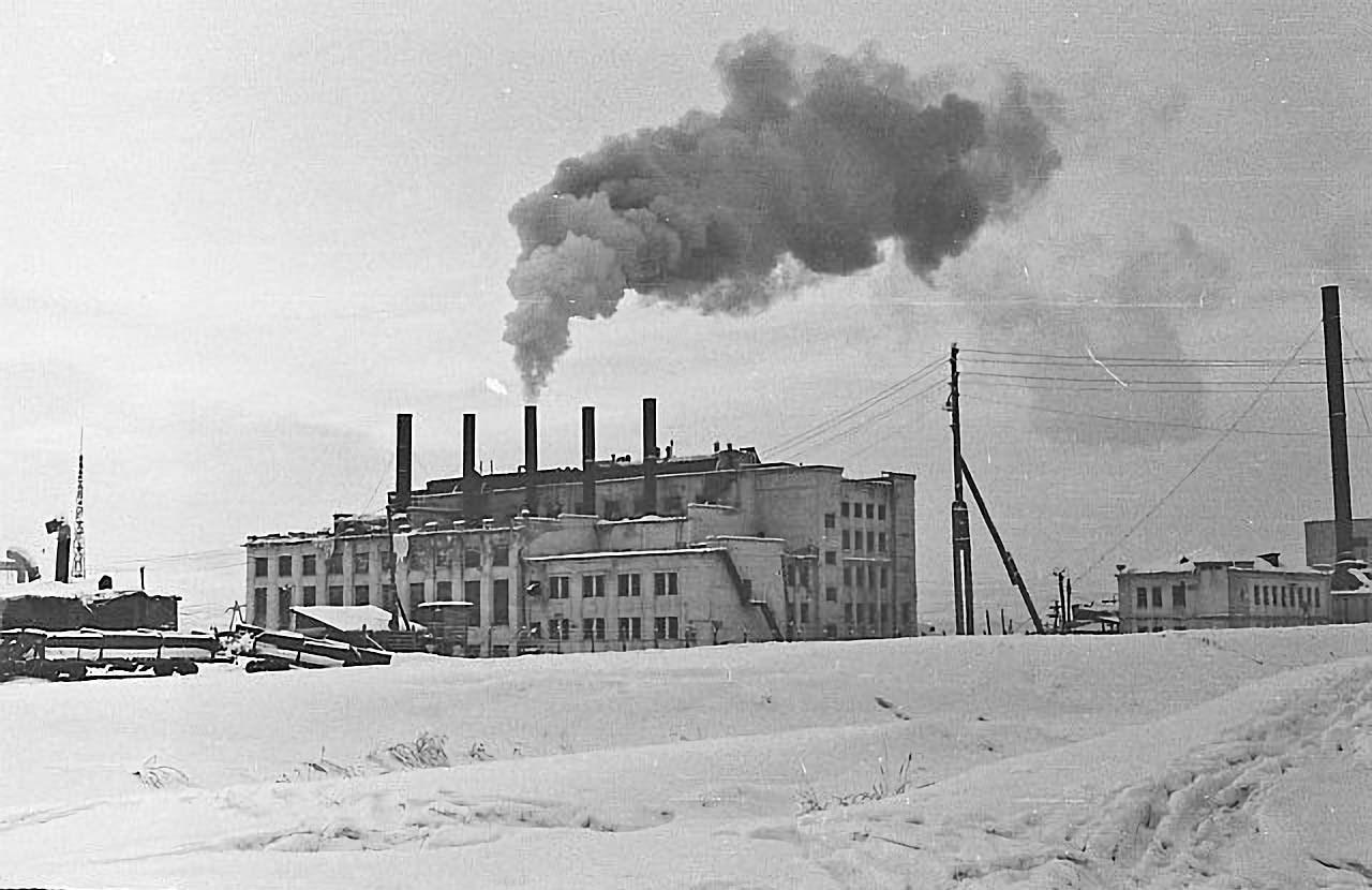 Усть-Тасканская ТЭС. 1965 год.