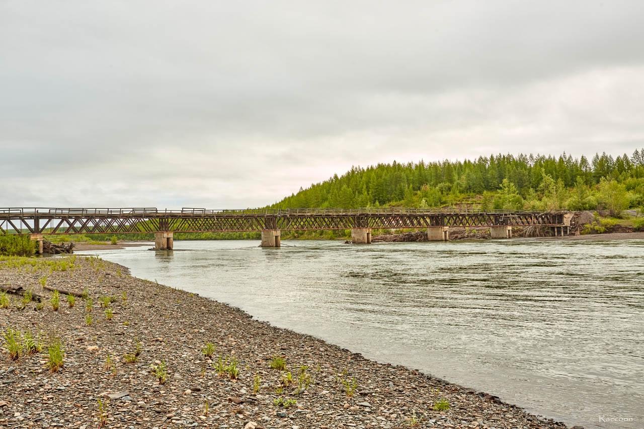 Усть-Тасканский мост. Июль 2017 года.