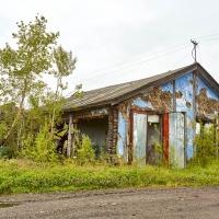 Бывший гараж мелиорации. Усть-Таскан. 2017 год.