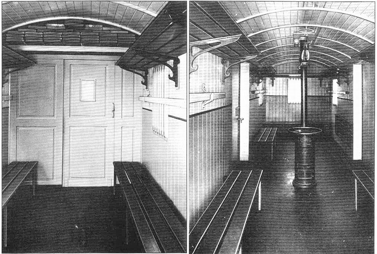 Фото внутри грузопассажирского вагона «Аммендорф».