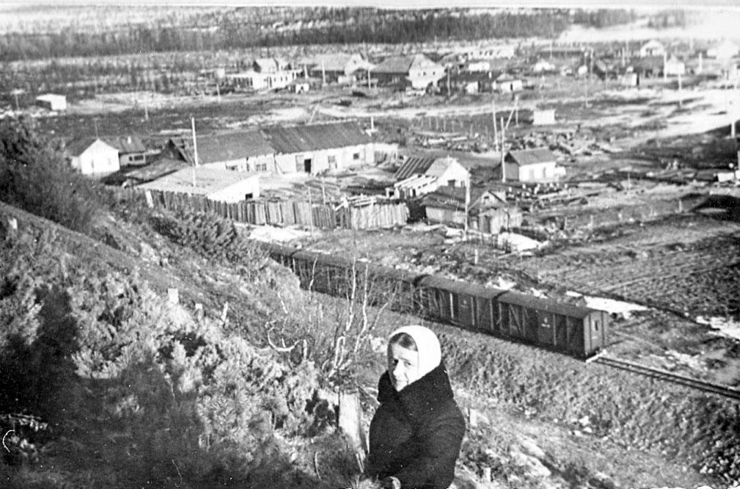 Участок узкоколейки Магадан - Новая Палатка.