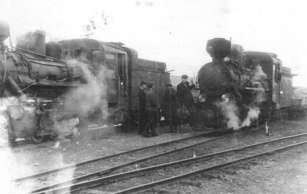 Железная дорога Магадан-Палатка. Разъезд мыс Пограничный, 1953 год. Из архива Опольского.