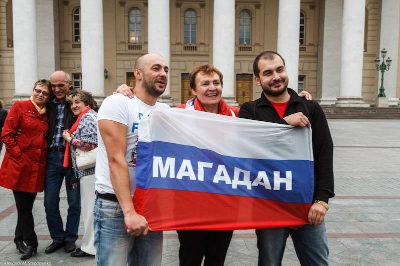Встреча колымчан в Москве у Большого театра.