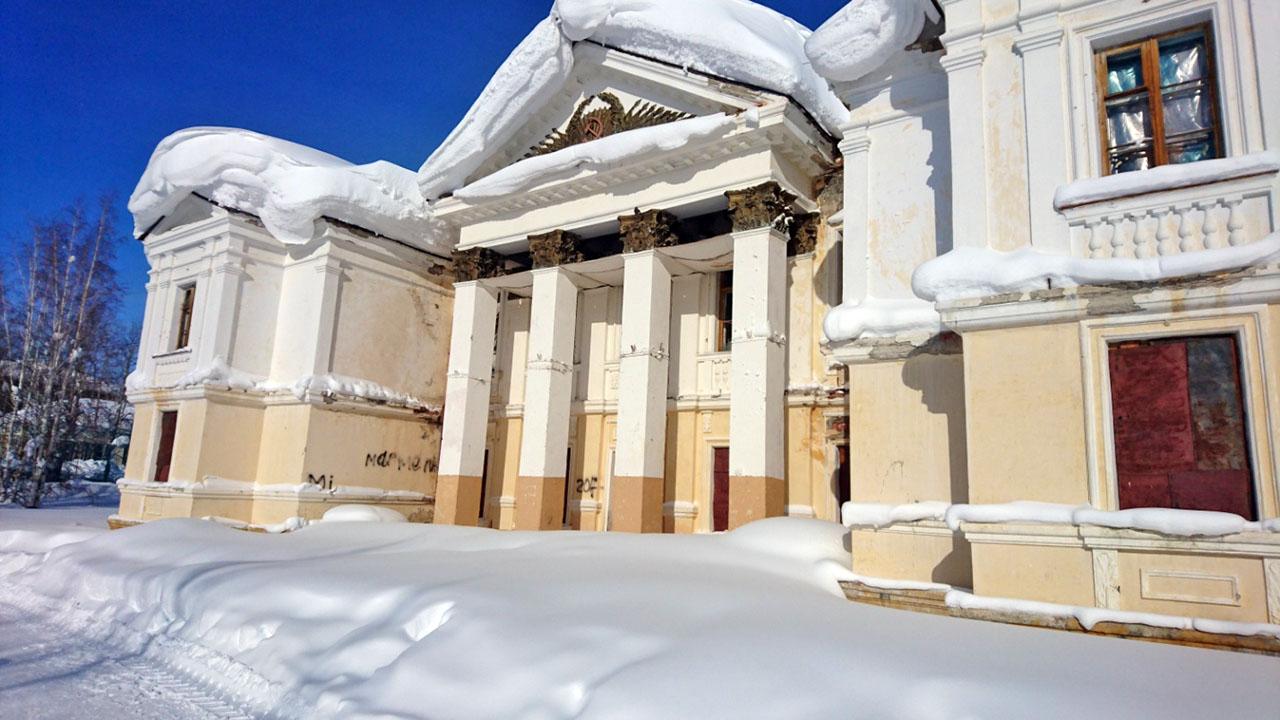 Здание бывшего Дома культуры посёлка Талая.