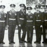 Офицеры части. Хазанов М., Сухоносов Г., Шанов В., Лапаев В., Голубенко П,. Закиев Т.
