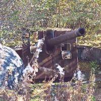 Батарея №960 на мысе Островном. Орудие Б-13 в орудийном дворике