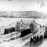 Щ-122, Щ-121 и Щ-123. Владивосток, весна 1935г