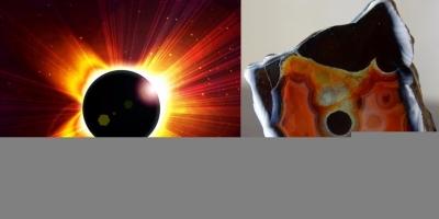 Solar Eclipse. Агат, яшма, р. Рывеем (Чукотка).