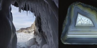 В ледяной пещере. Агат, р. Рывеем (Чукотка).