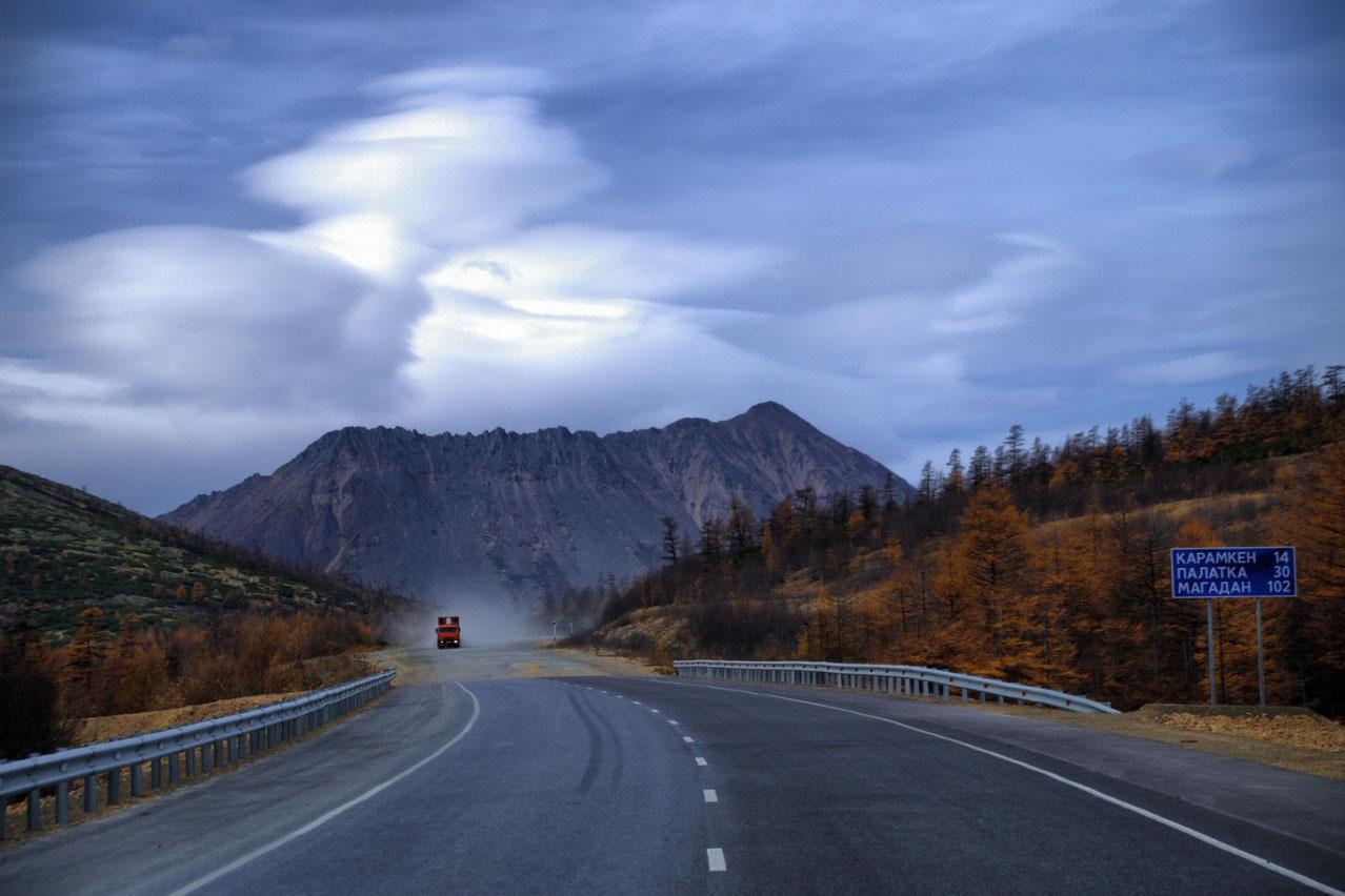 Показать фото дороги магадан день