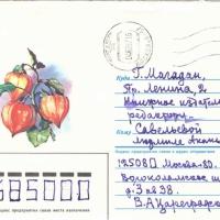 Конверт письма от Цареградского к Савельевой.