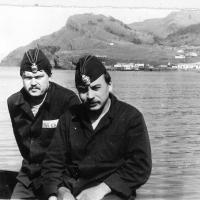 С 359 у острова Шикотан. С доктором Чембарисовым. 1984-1985 года.