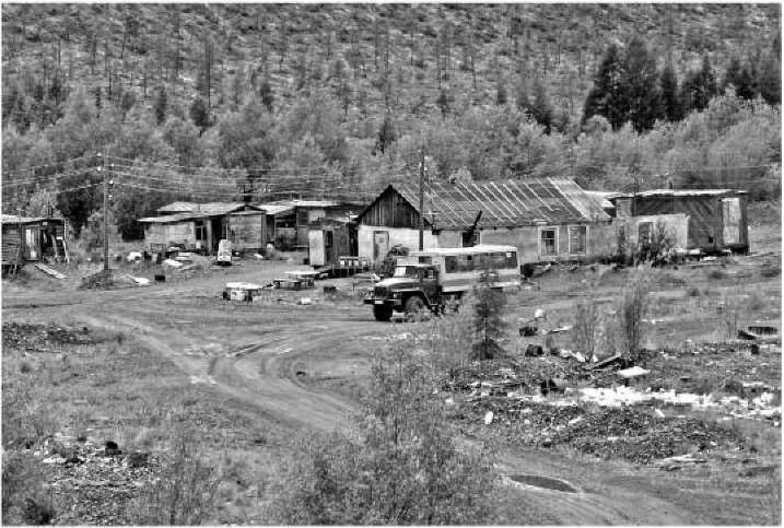Поселок старателей на ключе Родионовский. 2007