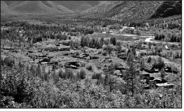 Поселок им. В. Белова. Правобережная часть, где находилась жилая и рабочая зоны лагеря рудника им. Белова. 2007