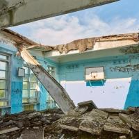 Спортзал бывшей школы.Посёлок Спорное. 2017 год.