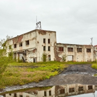 Здание гаража ТЭС. Усть-Таскан. 2017 год.